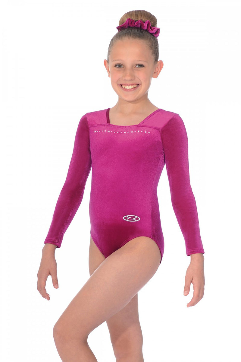 The Zone Sparkle Long Sleeve Leotard Z685SPA
