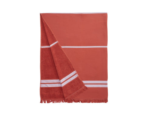 Mare Beach Towel - Brick