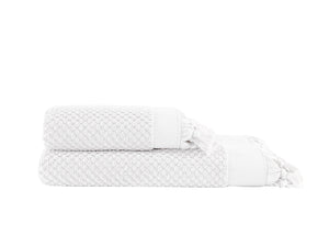 Pebble Bath Towel  Set - Off White