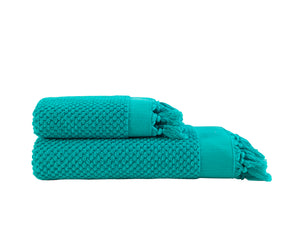 Pebble Bath Towel  Set - Turquoise
