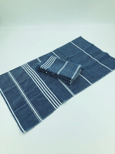 Peshtemal Napkins - Navy - Set of 4