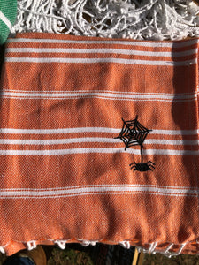 Sky Orange Kitchen Towel- Spider