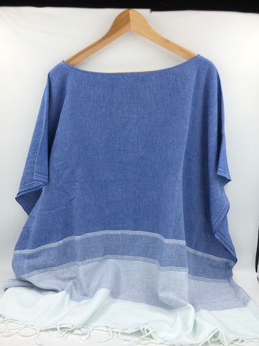 Lidya Cover-Up Poncho - Indigo