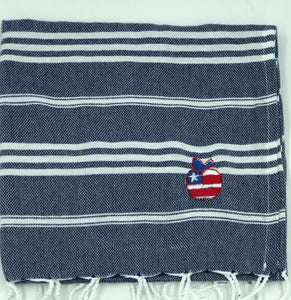 Sky Navy Kitchen Towel- Patriot Apple