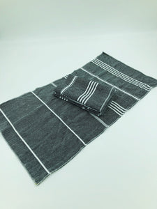 Peshtemal Napkins - Charcoal - Set of 4