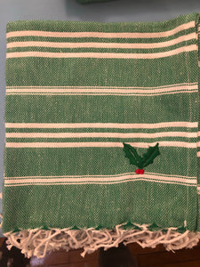 Sky Green Kitchen Towel- Holly