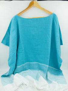 Lidya Cover-Up Poncho - Turquoise