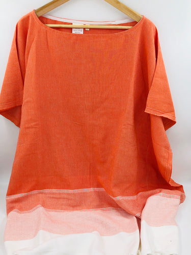 Lidya Cover-Up Poncho - Mandarin