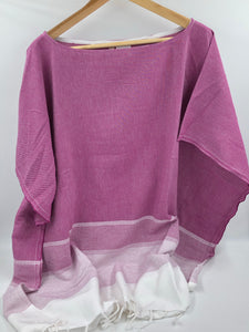 Lidya Cover-Up Poncho - Bouganvillea
