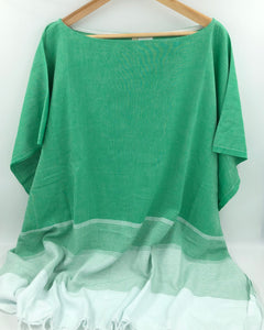 Lidya Cover-Up Poncho - Emerald