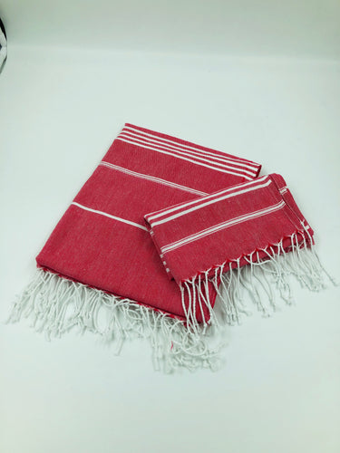 Sky Bath Towel Set - Coral