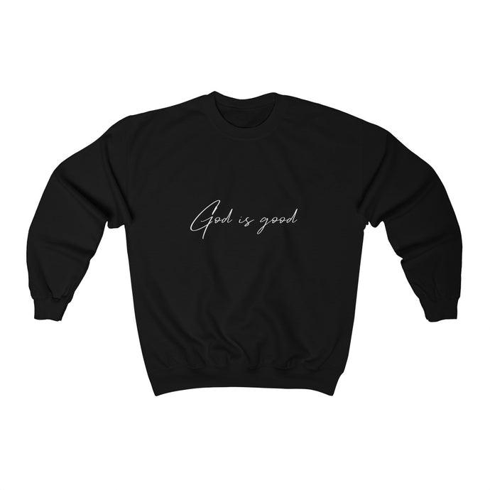 God is Good - Unisex Heavy Blend™ Crewneck Sweatshirt (Black)