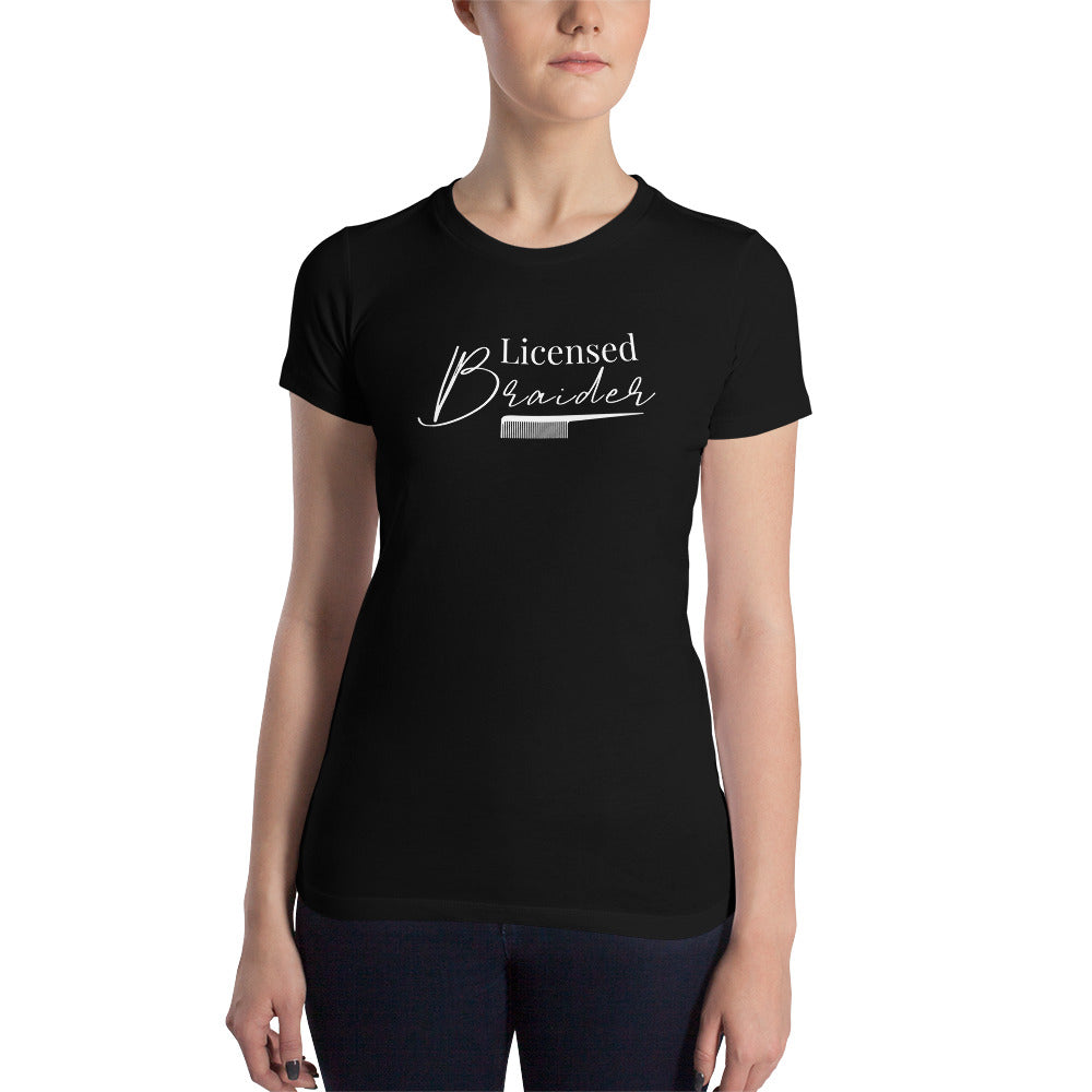 Licensed Braider - Women's Slim Fit T-Shirt