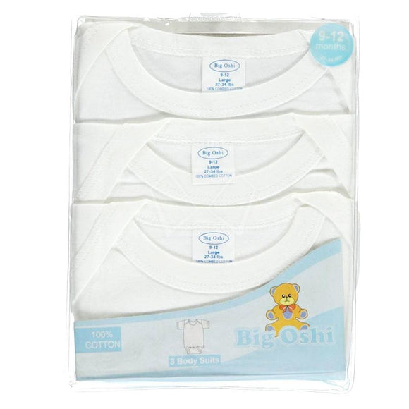 Baby Big Oshi Short Sleeve Undershirts - 3 Pk.