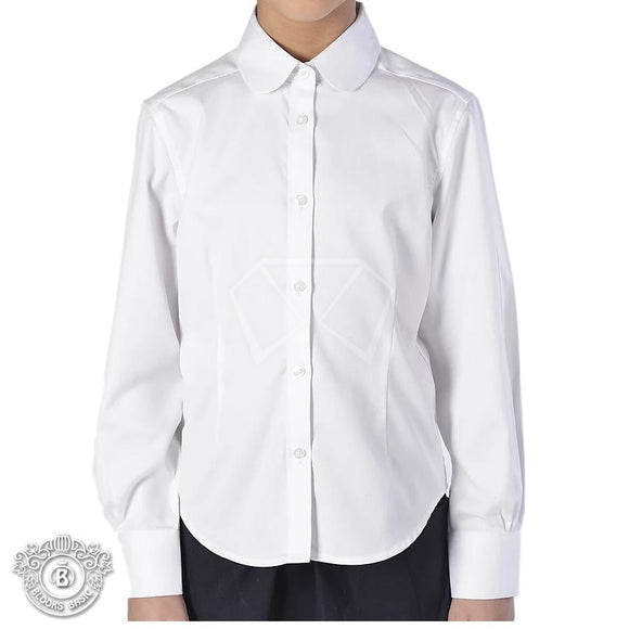 Blooks White Round Collar Blouse Dickey