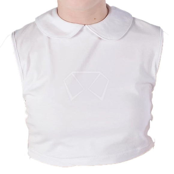 Girls Blooks Round Collar T-Shirt Dickey White / 4