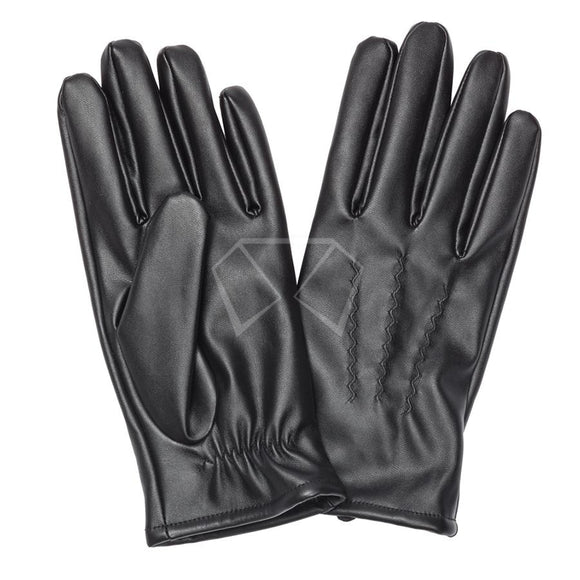Mens Vinyl Faux Fur Lined Gloves Winter Items