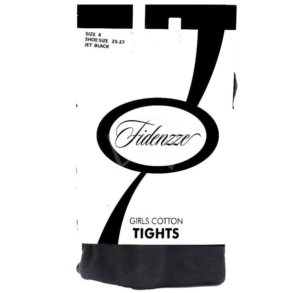 Girls Fidenzze Cotton Tights Black / 2