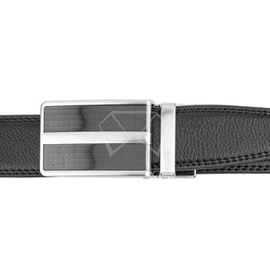 "Mens Lucci 48"" Black Leather Track Belt #46"