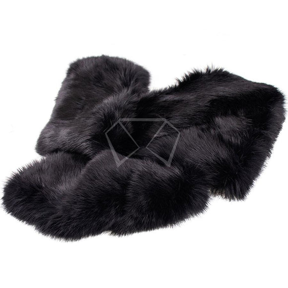 Mens Rabbit Fur Scarf 5