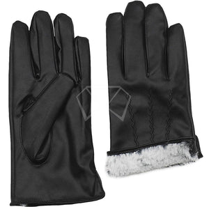 Mens Soft Faux Fur Lined Gloves Winter Items