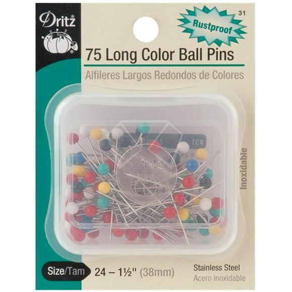 Stick Pins Size 24 - 75 Pk. Sewing