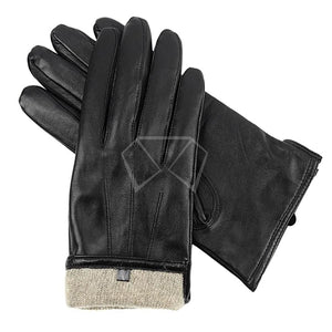 Mens Cashmere Leather Gloves