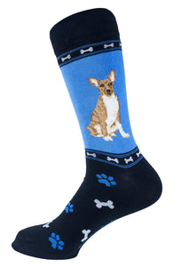 Basenji Dog Socks Mens Signature