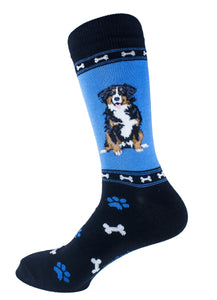 Bernese Mountain Dog Socks Mens Signature Baby Mojo