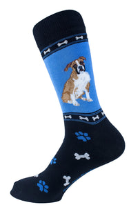 Boxer Dog Socks Mens Signature