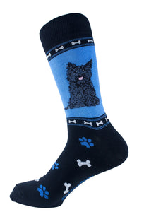Cairn terrier Black Dog Socks Mens Signature