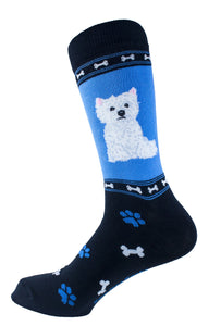 Cairn terrier White Dog Socks Mens Signature