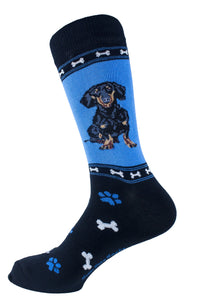 Dachshund Black Dog Socks Mens Signature