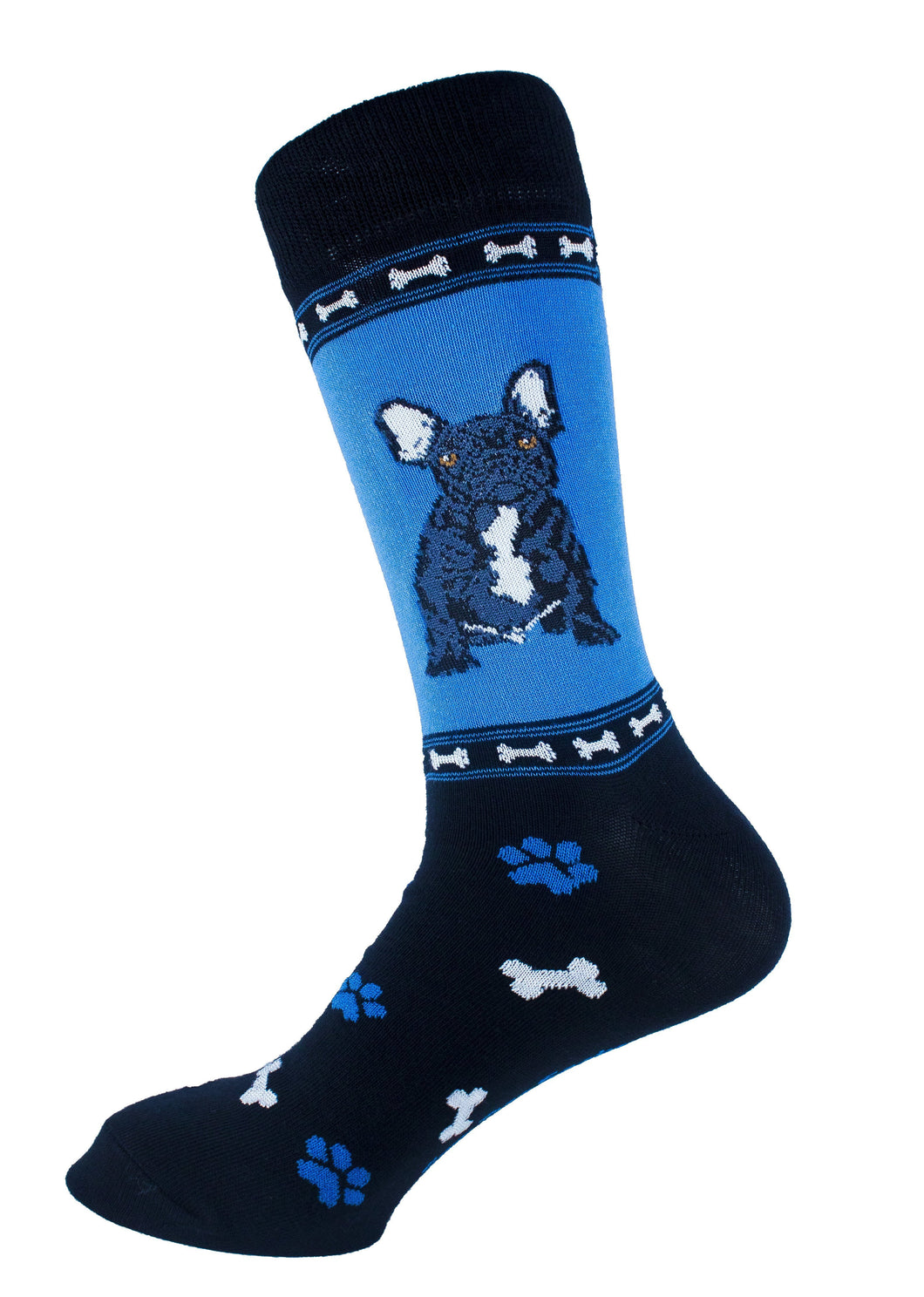 French Bulldog Black Dog Socks Mens Signature