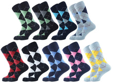 Load image into Gallery viewer, Argyle Men Socks - Assorted - 9 Pack