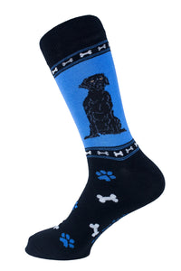 Labrador retriever Black Dog Socks Mens Signature
