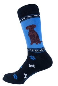 Labrador Retriever Chocolate Dog Socks Mens Signature