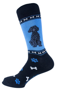 Labradoodle Black Dog Socks Mens Signature