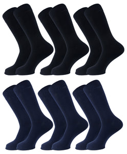 Plain Men Socks - Assorted - 6 Pack