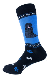 Newfiedoodle Dog Socks Mens Signature