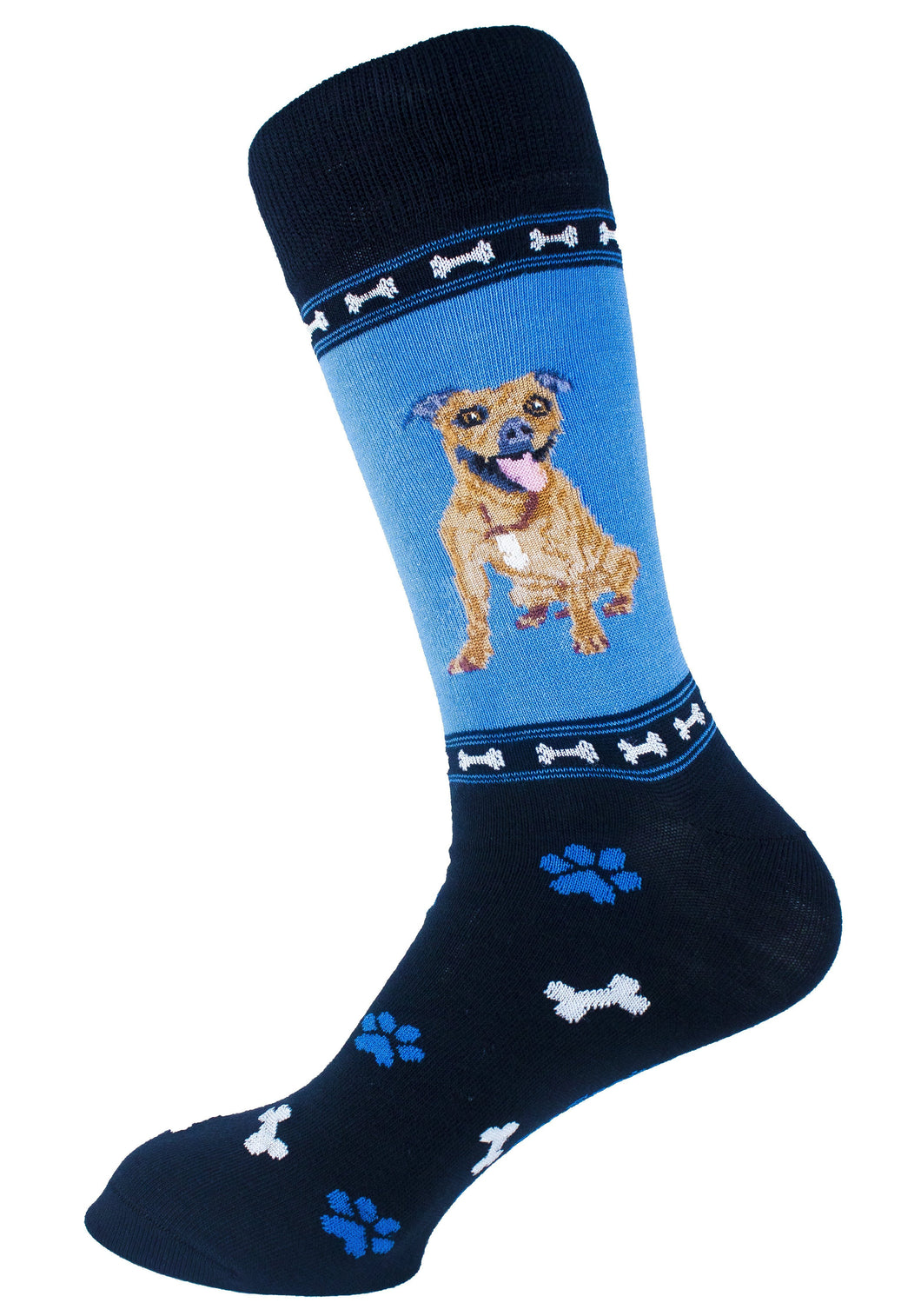 Pitbull Brindle Dog Socks Mens Signature