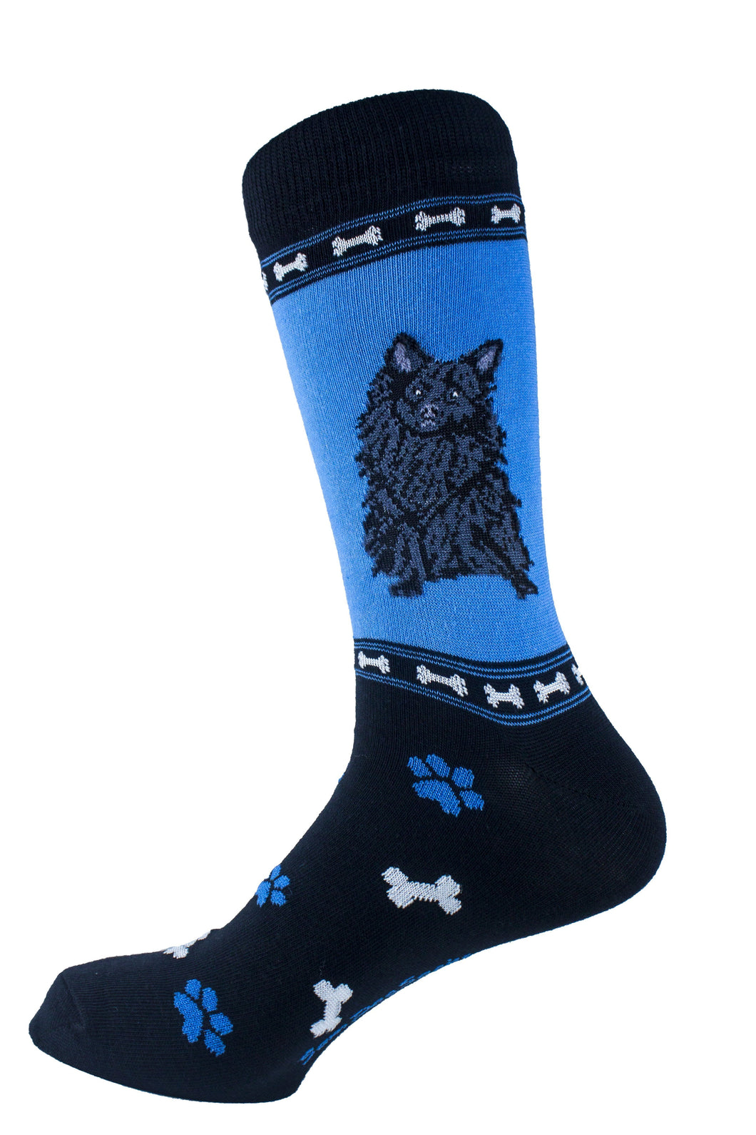 Pomeranian Black Dog Socks Mens Signature