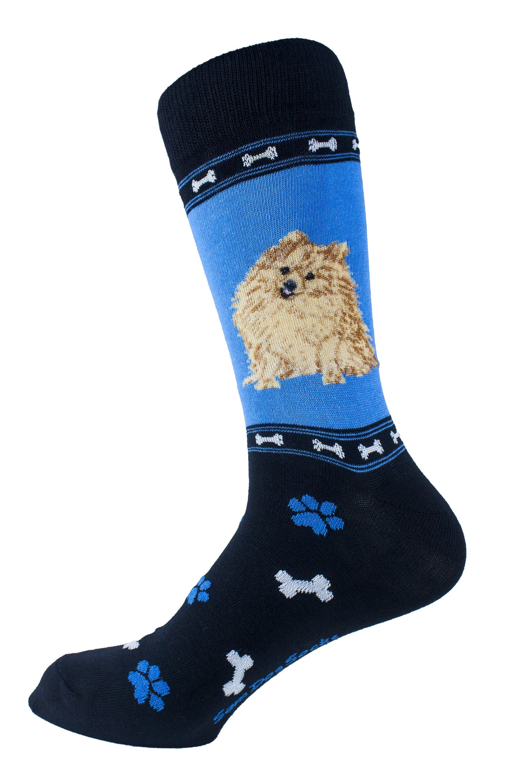 Pomeranian Brown Dog Socks Mens Signature