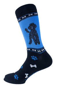 Poodle Black Dog Socks Mens Signature