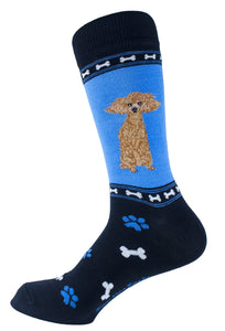 Poodle Brown Dog Socks Mens Signature