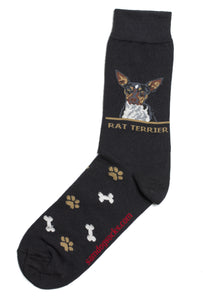 Rat Terrier Dog Socks Mens