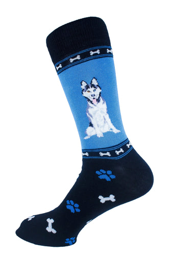 Siberian Husky Dog Socks Mens Signature