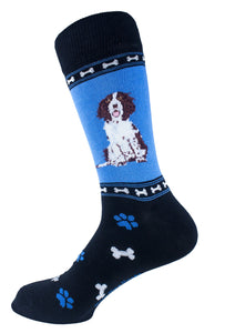 Springer Spaniel Brown Dog Socks Mens Signature
