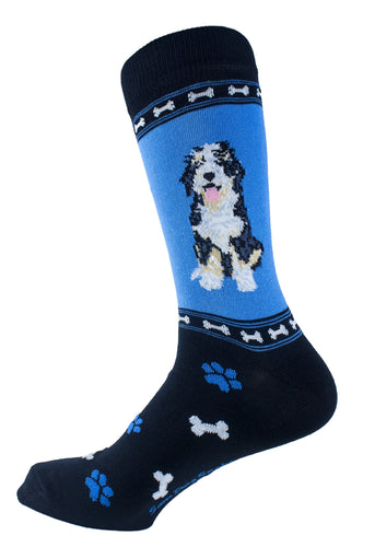 Saint Bernadoodle Dog Socks Mens Signature