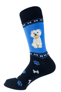 Westie Dog Socks Mens Signature